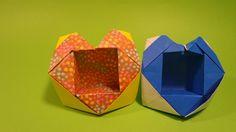 하트상자 색종이 접기- Origami Confetti Heart box