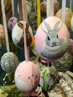 Hand painted Austrian Easter Eggs