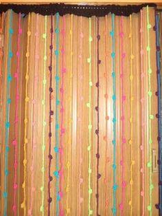 tejidos crohet cortinas tiras con nudos