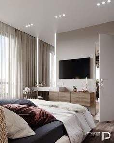 Bedroom Tv Wall, Room Design Bedroom, Home Room Design, Room Ideas Bedroom, Home Decor Bedroom, Home Interior Design, Elegant Bedroom Design, Suites, Luxurious Bedrooms