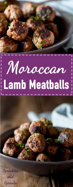 Moroccan Lamb Meatballs. These lamb meatballs are simple to make and there are some fabulous spices in these flavour packed meatballs | Sprinkles and Sprouts
