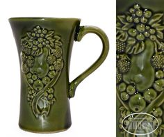Mug with floral decor.