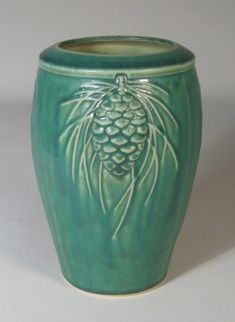 Pinecone Vase Pewabic Pottery arts-crafts-pottery
