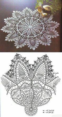 Free Crochet Doily Patterns, Crochet Doily Diagram, Crochet Motifs, Crochet Art, Thread Crochet, Filet Crochet, Vintage Crochet, Crochet Designs, Knitting Patterns