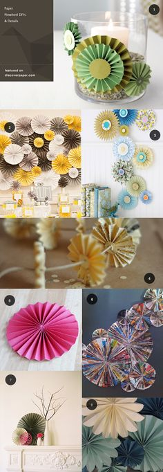 Paper Pinwheel DIYs to add a splash of colour to a table or my favourite, a fab little garland.