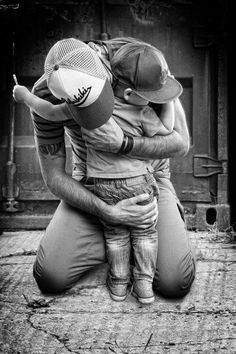 Father son moment love family photography black and white beautiful hug father son