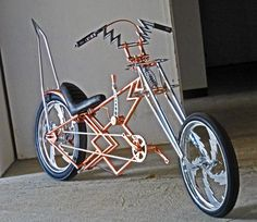Copper plated chopper bicycle.......etc etc etc - BMXmuseum.com Forums