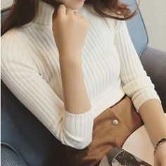 Buy 'Octavia – Ribbed Turtleneck Sweater' with Free International Shipping at YesStyle.com. Browse and shop for thousands of Asian fashion items from China and more!