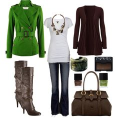 Casual Outfit Ideas For Women | Casual Outfit Ideas | Green and Brown | Fashionista Trends
