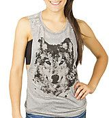 Burnout Muscle Wolf Tank $14