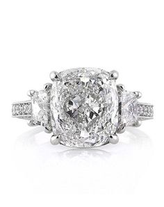Mark Broumand 5.40ct Cushion Cut Diamond Engagement Ring Engagement Ring - The…