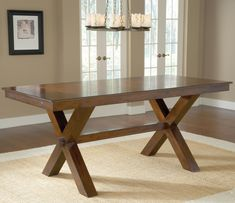 Park Avenue Counter Height Trestle Table by Hillsdale | Wolf Furniture