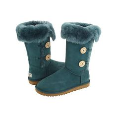 Cheap UGG 1873 Bailey Button Triplet Boots Blackish Green Outlet Online Sale