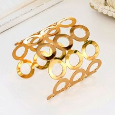 Golden Colored Loop Carved Kada