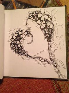 Bildergebnis für how to draw narwhal tangle