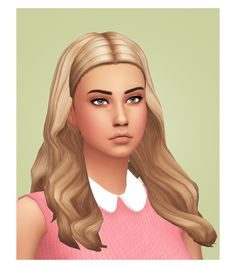 Crabby Simduction Gem Hair - Recolored/Retextured