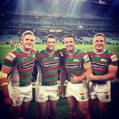 For the same team (the South Sydney Rabbitohs FYI). | Stop Everything And Look At These Four Hot Rugby Player Brothers