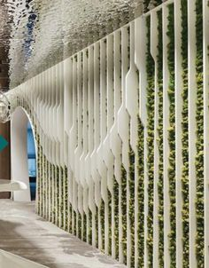 Feature Wall Design, Art Mur, Boundary Walls, Partition Design, Lobby Design, Facade Architecture, Fence Design, Wall Patterns, Wall Treatments