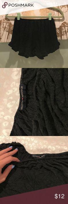 Brandy Melville vodi shorts dark grey brandy melville vodi shorts. perf condition Brandy Melville Shorts