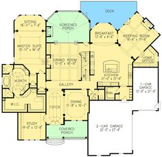 LOVE, LOVE,LOVE this layout! Exquisite Master Down European Manor - 15794GE | European, French Country, Luxury, Photo Gallery, Premium Collection, 1st Floor Master Suite, Butler Walk-in Pantry, CAD Available, Den-Office-Library-Study, Loft, MBR Sitting Area, Media-Game-Home Theater, PDF, Corner Lot | Architectural Designs