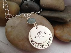 Trendy Personalized chunky chain hand stamped by thecharmedwife, $77.00