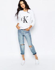 Image 4 of Calvin Klein Jeans Sweatshirt With Logo