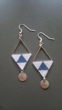 Boucles d'oreilles perles miyuki - triangles de la boutique Miyukath sur Etsy
