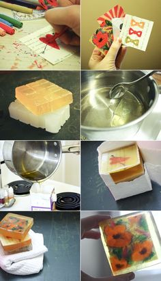 DIY: graphic soaps