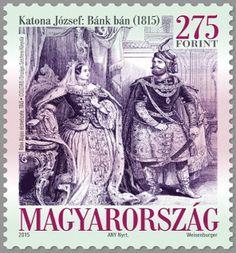 Sello: Jozsef Katona: Bank Ban (Hungría) (Bicentenary of the Bank Ban drama) Mi:HU