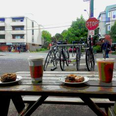 Photos at Mighty-O Donuts - Wallingford - Seattle, WA #vegan #vegandonut #seattle #organic #organicdonut #nonGMO