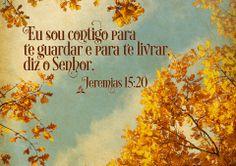 E eu te porei contra este povo como forte muro de bronze; e pelejarão contra ti, mas não prevalecerão contra ti; porque eu sou contigo para te guardar, para te livrar deles, diz o Senhor. Jeremias 15:20