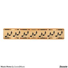 Music Notes Maple Key Rack