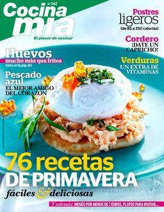 Revista #COCINA MÍA 142. 76 #recetas de #primavera fáciles y deliciosas. #Huevos, mucho más que fritos. #Verduras, un extra de vitaminas.