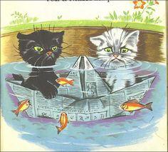 Question 2 : Les deux petits chats espiègles, crées par le dessinateur pour enfants Pierre Probst, se nomment Pouf et . . . 1. Splaf 2. Noiraud 3. Hercule