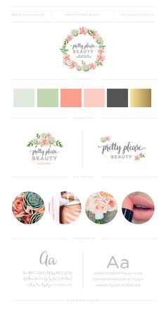 MISS POPPY DESIGN - Logo and Brand Design for Pretty Please Beauty
