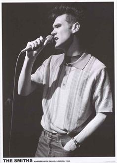 A great poster of The Smiths front-man Morrissey in his prime in Hammersmith UK in 1984! Ships fast. 24x33 inches. Check out the rest of our amazing selection of The Smiths posters! Need Poster Mounts