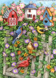 Birdhouses and Glories by Lorraine Ryan