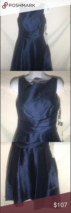 Gather & Gown Women's Formal Dress, Size 8, Navy From Designer David Tutera NWT Gather & Gown Women's Formal Dress Size: 8 Color: Navy, 410 Style: Malvern, 556 Material: details not listed on dress or tag but appears to be made of silk or satin polyester blend outer dress, same for the liner PO: 126156 UPC: 841086128178 Length: approximately 29 inches from under arm hem to bottom hem All Gather & Gown dresses already listed 35% below current retail value and listed prices on Gather & gown…