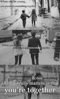 All that really matters is that...you're together ♥