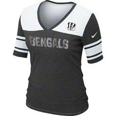 Women's Cincinnati Bengals Nike White Boyfriend Pocket T-Shirt