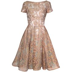 VINTAGE 1950s Blue Bronze Illusion Lace Party Dress ❤ liked on Polyvore featuring dresses, vestidos, short dresses, cocktail dresses, short lace cocktail dress, vintage lace dress, blue cocktail dress and vintage cocktail dress