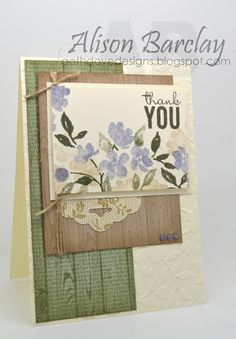 Gothdove Designs - Alison Barclay - Stampin' Up! Australia - Painted Petals #colorcoach #hardwood #PaintedPetals #ThankYou #card #stampinup #stampinupaustralia #stampinupsouthpacific #gothdovedesigns