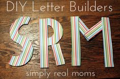 Need these in my classroom-DIY letter builders! Love the activity ideas to go with them!