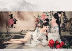 微博 Pacific Girls, Chinese Kimono, Geisha, Cute Lesbian Couples, Spirited Art, Beauty Around The World, Female Character Design, Japanese Prints, Fantasy Girl