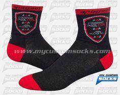 Socks designed by My Custom Socks for Apogee in Canada. Cycling socks made with Coolmax fabric. #Cycling custom socks - free quote! ////// Calcetas diseñadas por My Custom Socks para Apogee en Canada. Calcetas para Cyclismo hechas con tela Coolmax. #Cyclismo calcetas personalizadas - cotización gratis! www.mycustomsocks.com