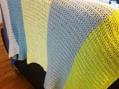 I finally got around to weaving in the ends and blocking the baby blanket I knit for our little Pon Pon this week! The blanket sat on the back of the dining chair for many weeks, because I just cou…