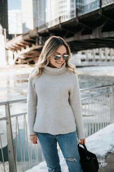 How to Dress for Winter in Chicago | bows & sequins