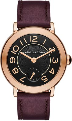 Marc Jacobs Marc Jacobs Women's Riley Oxblood Leather Strap Watch 36mm MJ1470 | MACY'S saved by #ShoppingIS