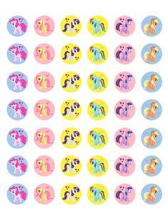 My Little Pony    Printable 1 Bottle Caps by ElleCoutureCreations, $1.49