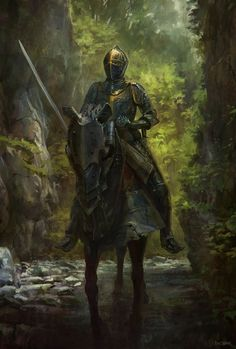 Questing Knight (Oath of the Ancients paladin). Fantasy Inspiration, Character Inspiration, Character Art, Knight In Shining Armor, Knight Armor, Dark Knight, Medieval Knight, Medieval Fantasy, Paladin